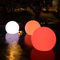 D30CM Multi color LED Night Spheres Lamp IP68 Waterproof Outdoor Swimming Pool Floating Ball Lighting GL504 30B