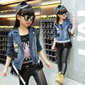 Fashion Spring Girl  Denim Jacket  Kid Coat