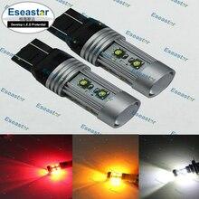 2ocs Eseastar бесплатная доставка высокой мощности 50 Вт XPE LED ЧИП, 7443 светодиодная лампа, W21/5 Вт света c. r. e. e, 7443 привели высокой мощности
