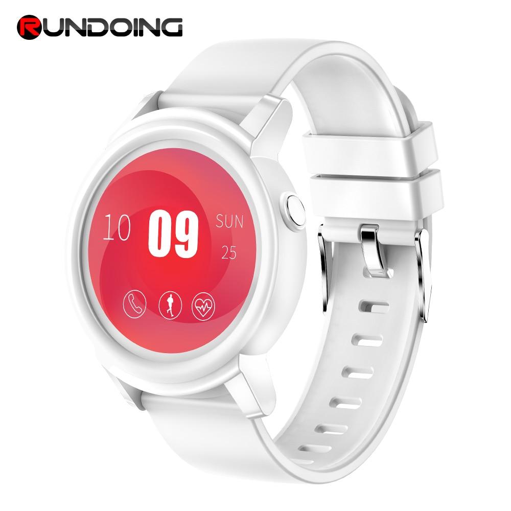 Rundoing NY01 full 1.3 inch round screen color Smart watch IP67 waterproof Smartwatch Heart rate monitor Fitness Tracker new garmin watch 2019