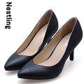 Tamaño grande 34-41 Nuevo 2016 Spring Fashion Office Lady Dress zapatos Sexy Punta estrecha Mujeres Bombas Tacones Altos Zapatos de Fiesta D45