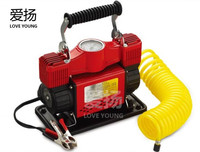 Double Cylinder DC 12V Tire Inflator Pump / Protable Mini Car Air Compressor