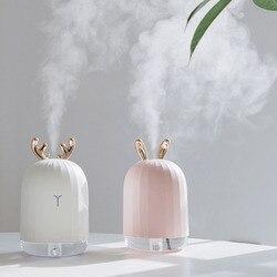 220ML ultradźwiękowy nawilżacz powietrza Aroma dyfuzor olejków eterycznych dla domu samochód EssentialUSB generator chłodnej mgiełki ze światłem Christmas Gift w Figurki i miniatury od Dom i ogród na