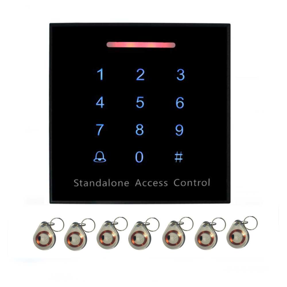 SY-K86 touch keyboard 125KHZ RFID access control system. support WG26 reader 3000 user +10pcs crystal keyfobs кальсоны user кальсоны