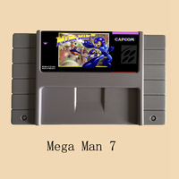 Mega Man 7 16 bit Big Gray Game Card For NTSC Game Player 10Pcs/Lot!