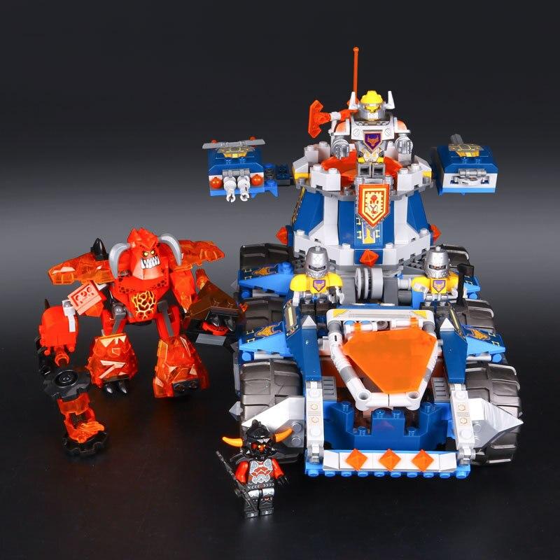 mylb Nexo Knights Axl Axls Tower Carrier Combination Marvel Building Blocks Kits Toys Compatible Nexus drop shipping