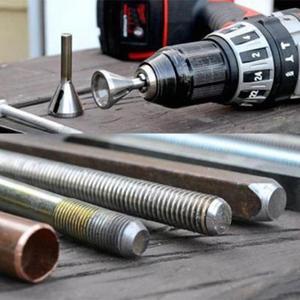 Image 3 - 스테인레스 스틸 디버링 외부 모따기 도구 드릴 비트 홈 DIY 워크샵 삼각형 육각 섕크 볼트 철근 버 제거 도구