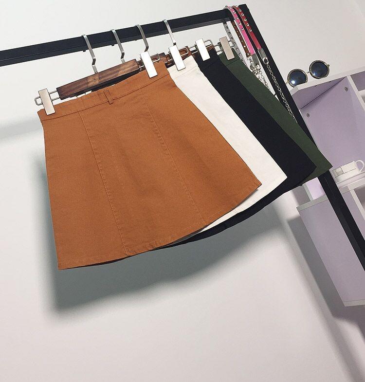 HTB1DgsTMpXXXXabaXXXq6xXFXXXd - American Apparel button Denim Skirt JKP265