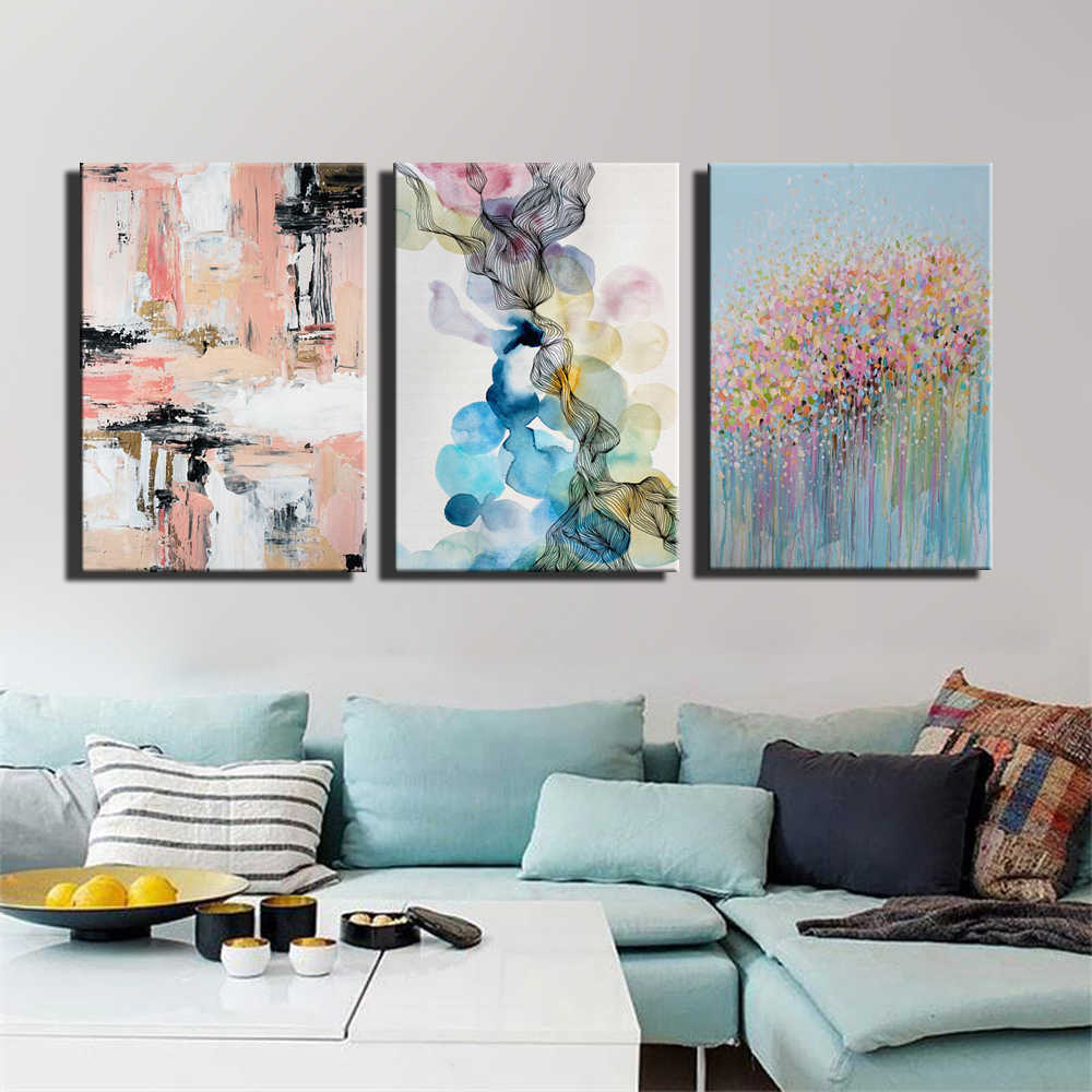 Абстрактные картины на холсте акварельные стены граффити искусство современные картины интерьерные для гостиной куадро Плакаты для украшения
