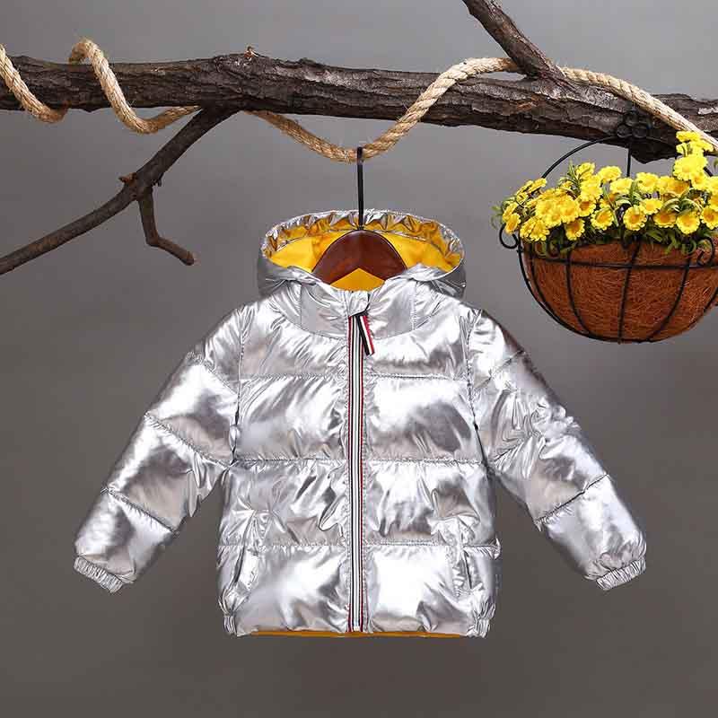 8b8075e2cde0 Dropwow HH Girls winter coat parka kids pink gold silver down jacket ...
