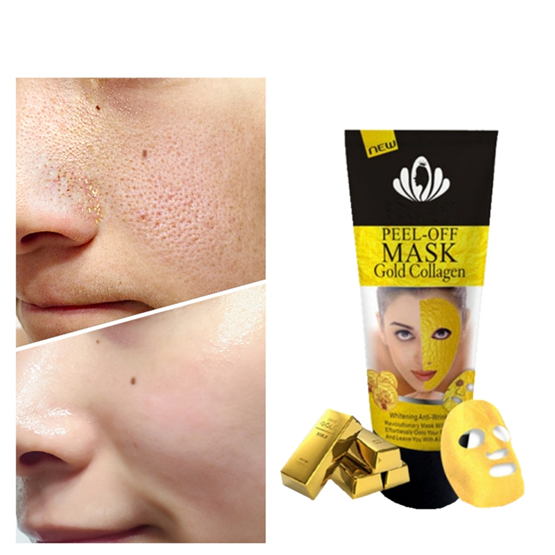 Gold Collagen Mask Nose Blackhead Remover Face Pack Peel Off Black Head Acne Treatments Deep Clean Skin Care Face Lift Essence