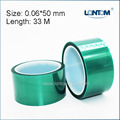 50mm width 33M Green PET Adhesive Tape High Temperature for PCB Solder Shielding