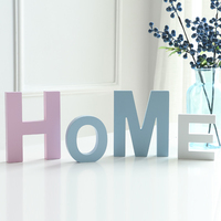 Modern diy wooden large blue English letters home ornaments wedding decoration furnishings wall decorations shooting props