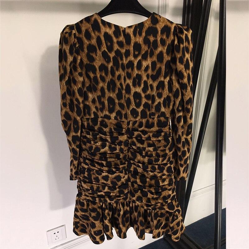 Femmes Sirène Nouvelle Zipper Femelle Longues Avec De À O Sexy Impression Manches Robes Luxe cou Pics As Robe Léopard tvqwWH4