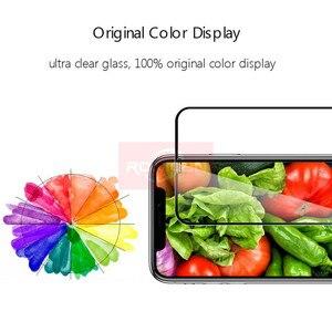 Image 3 - غطاء كامل من الزجاج المقسى على آيفون XR 11 برو ماكس حامي الشاشة آيفون X XR ثلاثية الأبعاد حافة منحنية واقية شاشة زجاجية فيلم