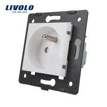 LIVOLO производитель, Livolo Белые пластиковые материалы, стандарт FR, функциональный ключ для французских розеток, VL-C7-C1FR-11(4 цвета