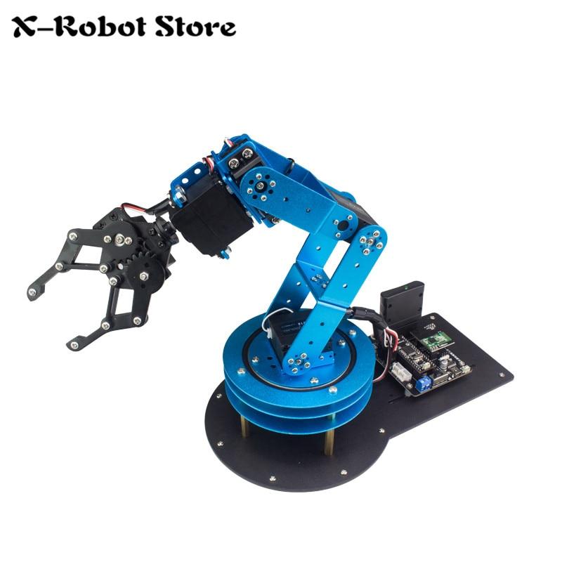 DIY 6DOF Robot Arm LeArm/Arduino/STM32/51 Microcontroller/Teaching Machinery KIT