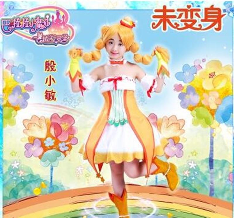 Anime Balala The Fairies Duan Xiaomin Cosplay Costume Cute Yellow Girl Dress D anime balala the fairies duan xiaomin cosplay costume cute yellow girl dress d