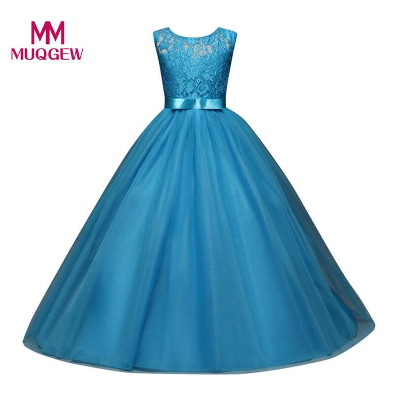 Summer Princess Wedding Bridesmaid Long Flower Girl Dress for ...