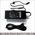 19V 4.74A 90W Laptop AC Power Adapter Charger Carregador Notebook For Caderno Toshiba Satellite C840 C850D C855 C855D