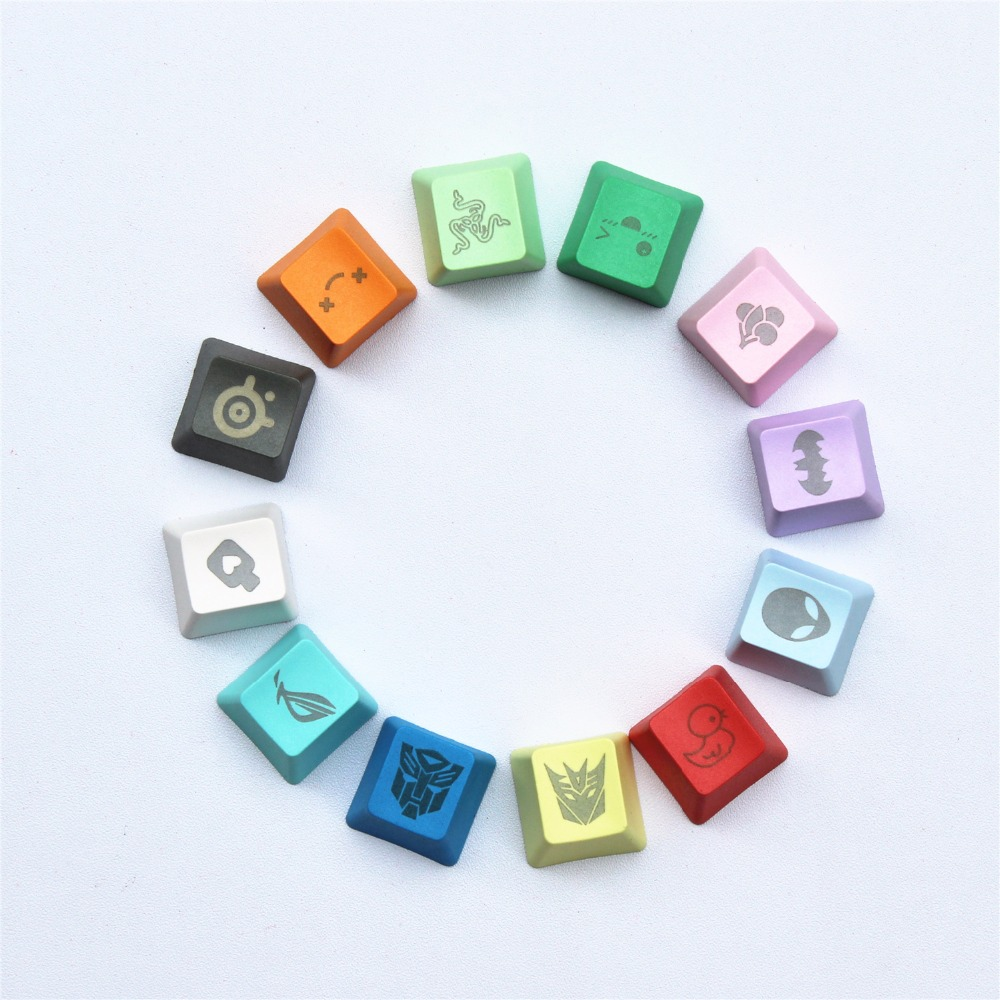 11 Colors 29 Engraving Graphics DIY PBT Keycaps OEM R4 Cherry MX Switch Mechanical Keyboard Keycap Buy One Get One Free