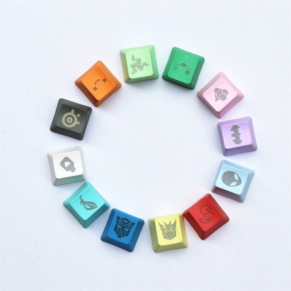 11 couleurs 29 des graphiques Gravure BRICOLAGE PBT keycaps OEM R4 cerise MX interrupteur mécanique clavier keycap acheter un en obtenir un livraison