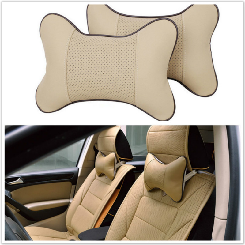 2xCar Headrest Pillow Neck For VW Polo Passat B6 B7 CC Golf 5 6 GTI Tiguan Jetta MK4 MK5 MK6 Touareg Sharan Scirocco Bora Beetle atreus 30cmx127cm carbon fiber car styling stickers for vw polo passat b7 b8 golf 7 5 6 mk4 touran bora t4 skoda octavia a5 a7 2