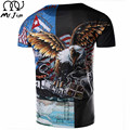 MR.JIM New fashion 2017 Cool Men eagle Design T shirt Novelty Tops customize Printed Short Sleeve Tees