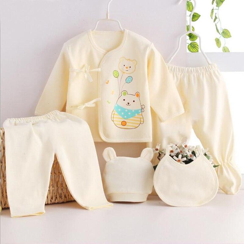 Neonato Vestiti Della Ragazza Del Bambino Insiemi shirt + Pantaloni Casual 5 pz vestiti per i bambini