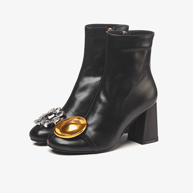 Chaussures Blanc Talons Hiver Cristal Chunky Cuir Automne Furtado Femme black Véritable En White 2018 Cheville Zippée grey Bottes Gris Fleurs Mode Arden CUO4xwqw