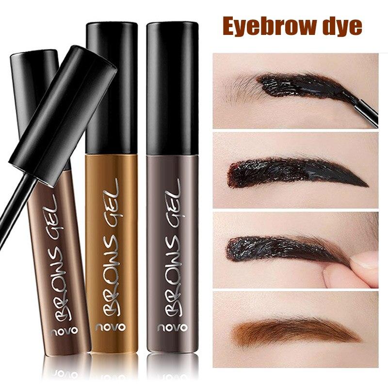 Eyebrow Dye Gel 3 Colors Optional Tear Off Eyebrow Cream Waterproof -2183