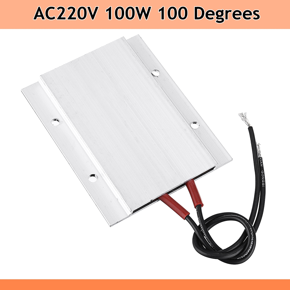 AC 220V 100W Aluminum PTC Heater Thermostat Heating Plate constant temperatRSDE
