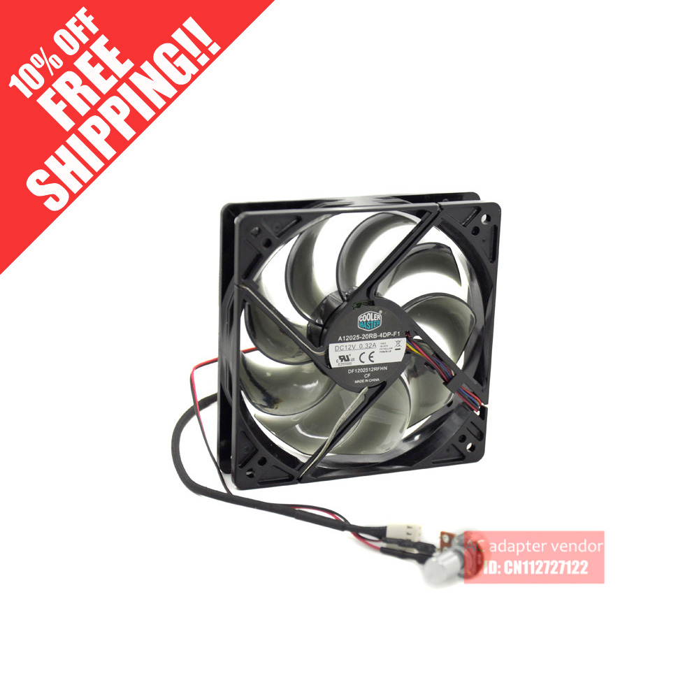 new Cooler Master CPU 12cm silence 4 wire PWM cooling fan delta new afc1212de 12cm 3a large air volume support pwm 4 wire pwm fan for delta 120 120 38mm
