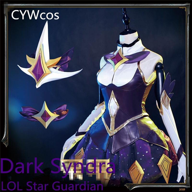 Anpassen Spiel LOL Cosplay Dark Syndra Star Wächter Magic Girl - Kostüme