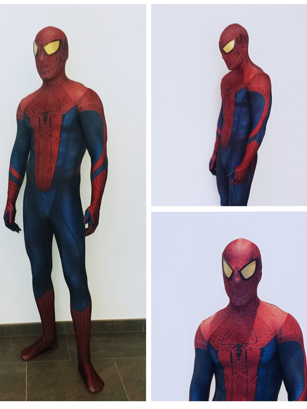 The Amazing Spider-man Adult 3D Print Halloween Cosplay Costume 3D Original Movie Spiderman Costume with Spiderman Lenses