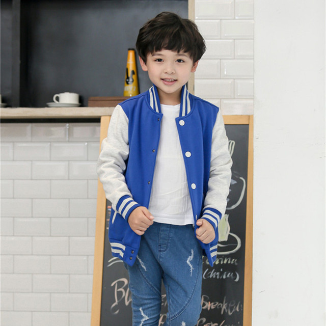 Child Baseball Jacket Boys Girls Casual Hoody Kids Outcoat 2016 Spring Autumn Kids Clothes 6 8 10 12 Years Old AKH165003