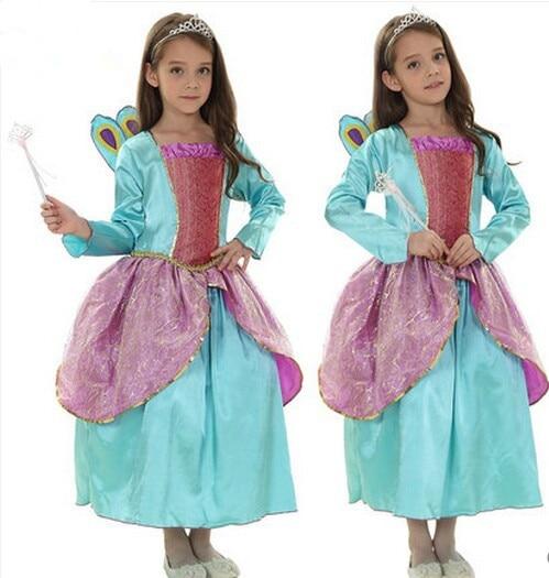 Filles costumes beauté costume de paon performance porter cadeau d'anniversaire fête d'anniversaire robe peafchouette princesse costumes copines