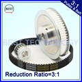 Timing Belt Pulley 5M Reduction  3:1 60teeth 20teeth  shaft center distance 80mm  Engraving machine accessories - belt gear kit