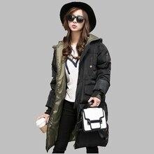 2016 Winter New Large size Women Hooded Cotton coat Down jacket Korean Long section Thick Warm Coat Slim Cotton coat S-XXXL AB27