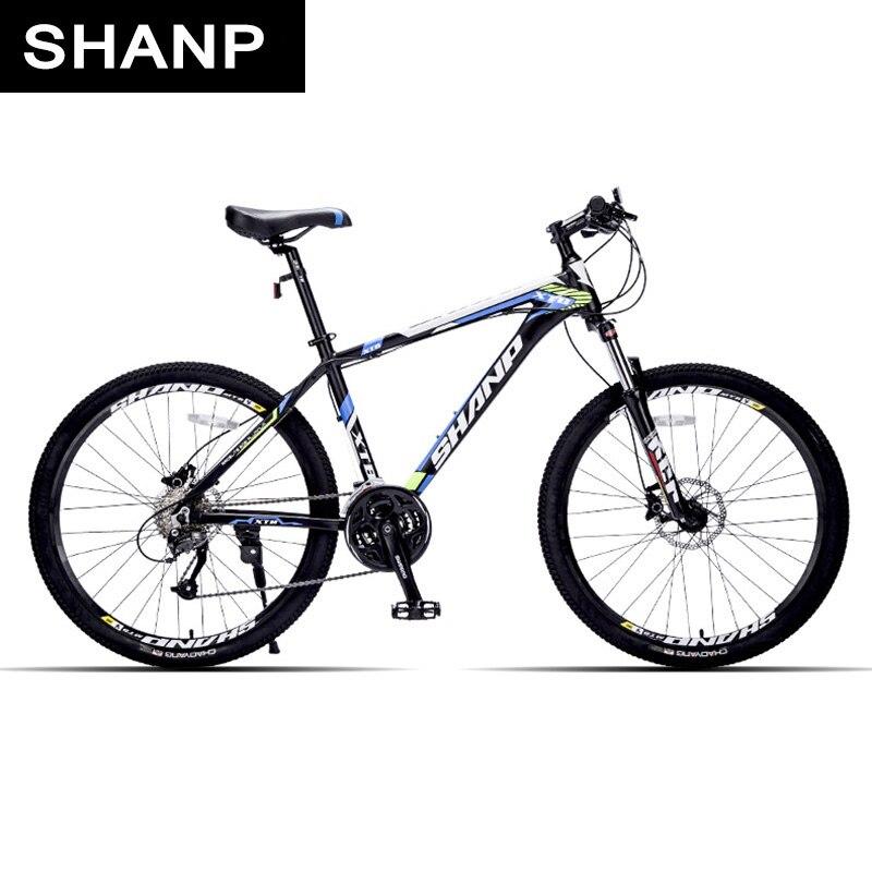 SHANP Горный велосипед алюминиевая рама 27 скоростей Microshift гидравлические/механические дисковые тормоза 26 колеса