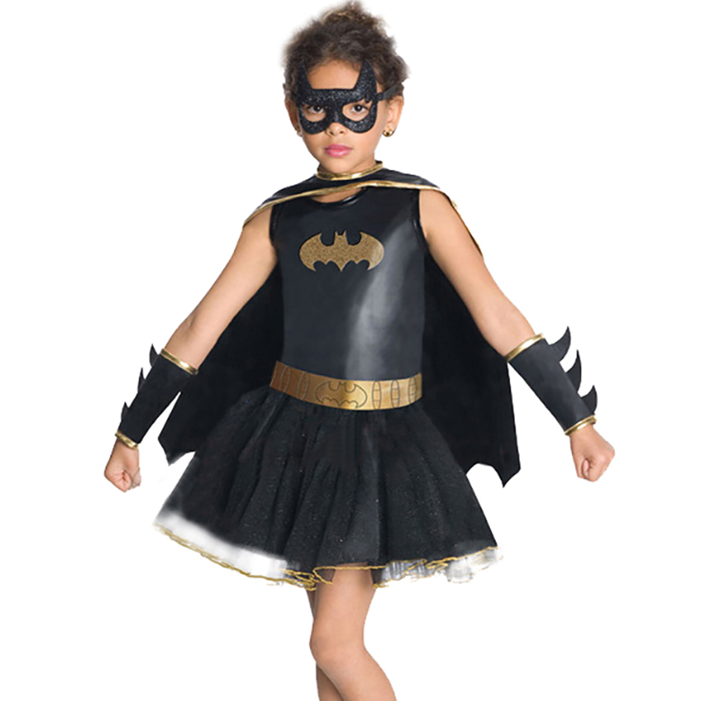 Halloween Costume For Kids girls  Batman  Costume Cosplay Party Costume Boutique With Eye Mask And Cloak Batman Costumes