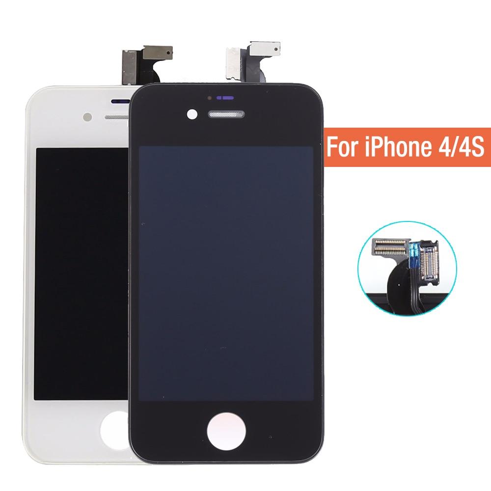 No dead pixel táctil del teléfono móvil lcd pantalla para iphone 4 4s pantalla l
