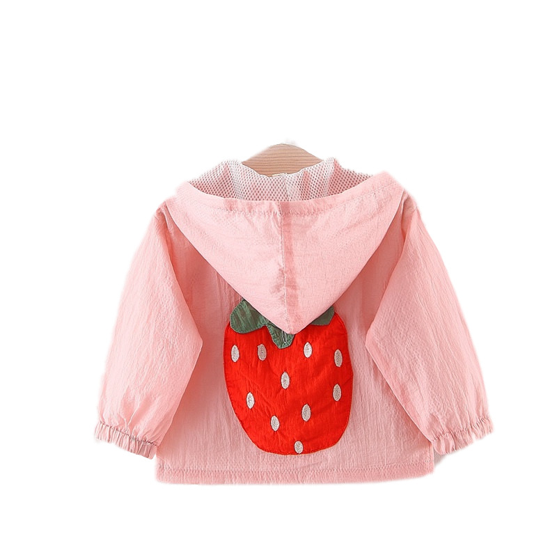 Strawberry Clothing Coat Hooded Baby-Girl Summer Hot Kid Sun-Protection Grils Children