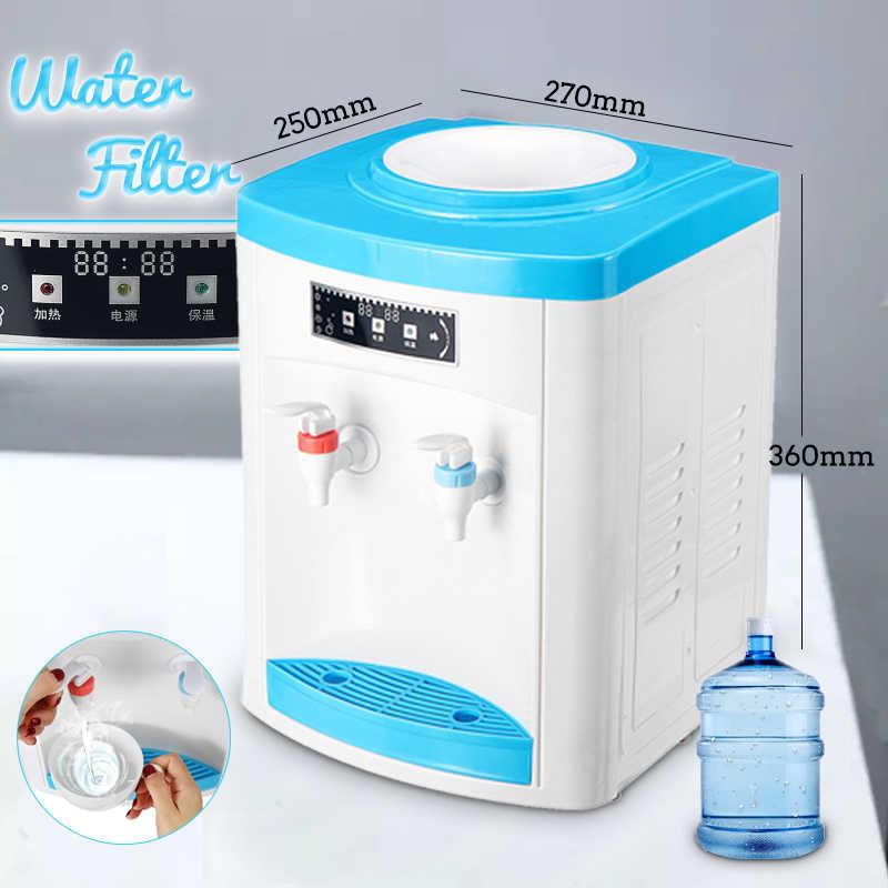 デスクトップ水クーラーディスペンサー水フィルターホット/コールド 220 V 500 W リムーバブル貯水ドリンクマシンライトインジケータ 3 モード