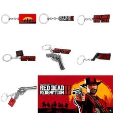 Keyrings Game Dead-Redemption Chaveiros 2-Keychain Rockstar Jewelry Pendant Gun Cosplay
