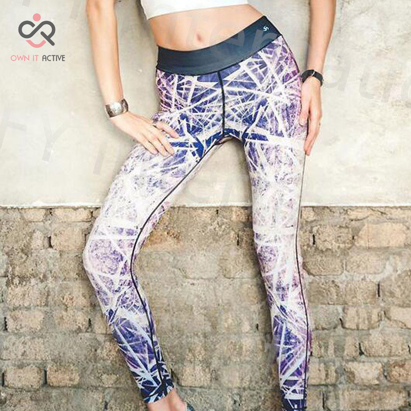 Clearance womens high waisted criss crossed line design tight fitting yoga pants leggings fitness gym yoga bottoms P006