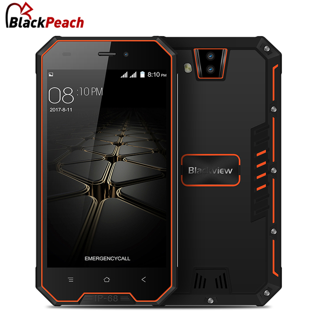 "Blackview BV4000 Pro IP68 Waterproof Mobile Phone 4.7"" HD Quad Core Android 7.0 2GB+16GB Dual Rear Cameras 3680mAh 3G Smartphone"