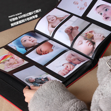 The Page Type Plastic 6 inch 600 photos 400  photos Leather Cover Gallery this Family of Large Capacity Growth of the Baby Album