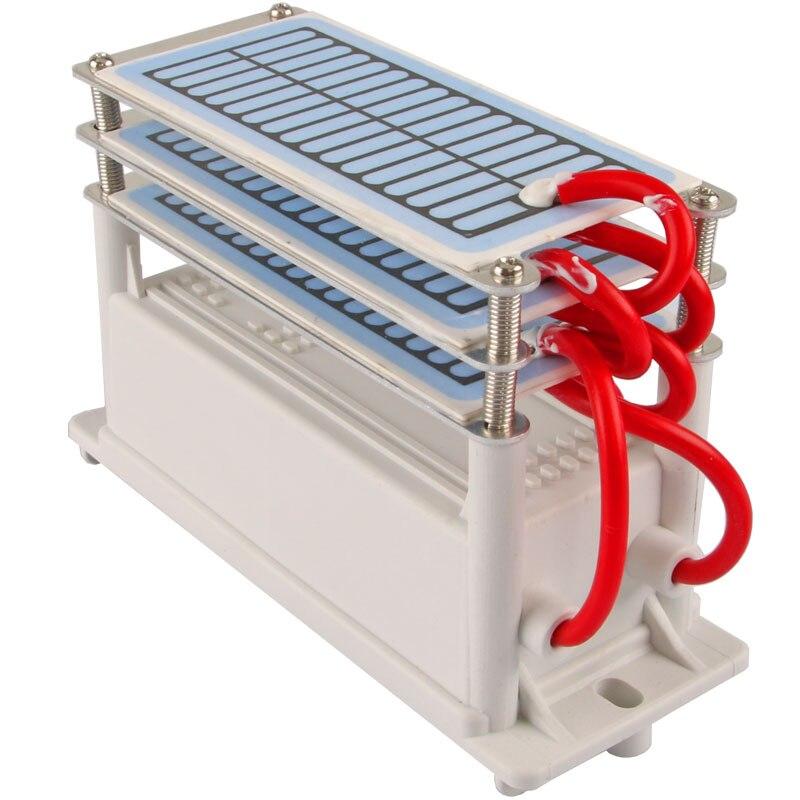 Nouveau 18 g/h Générateur D'ozone 3 couche étanche à l'humidité bleu film Ozoneur Air Purificateur d'eau Stérilisateur traitement D'ozone machine 220 v