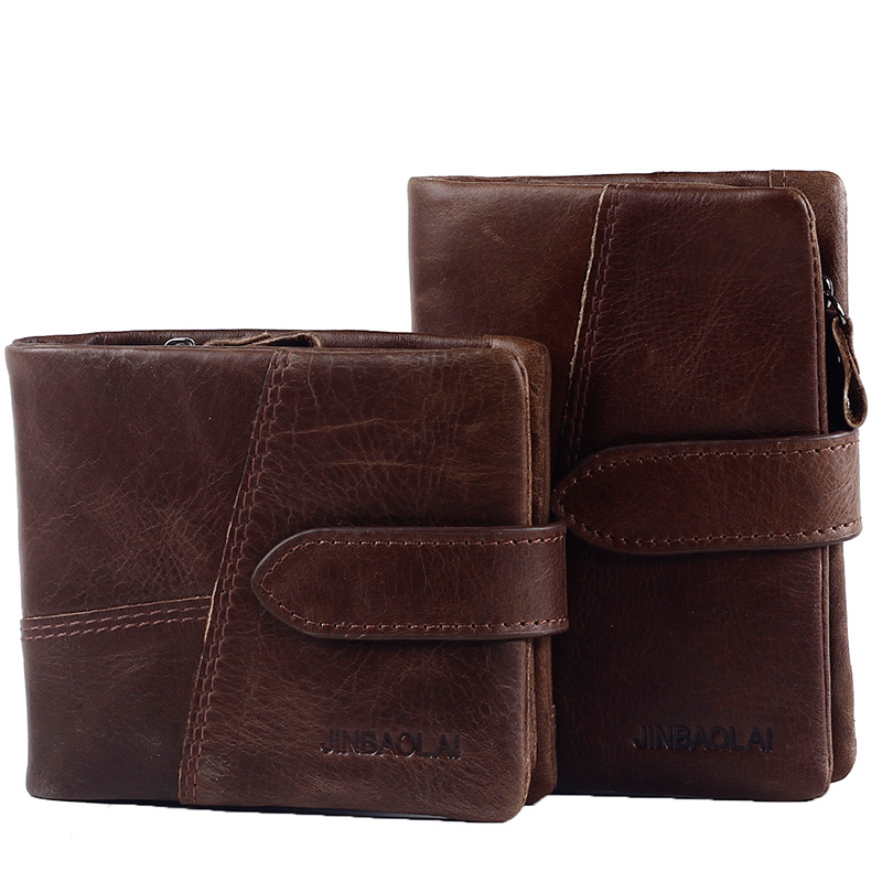2017 New Men Wallet Top Genuine Leather Zipper Coin Pocket short Male Clutch Bags Man Purse Brand Quality Hand Bag Drop Shipping  new sale fashion genuine leather business trends men purse top quality wallet coin pocket purse card free shipping